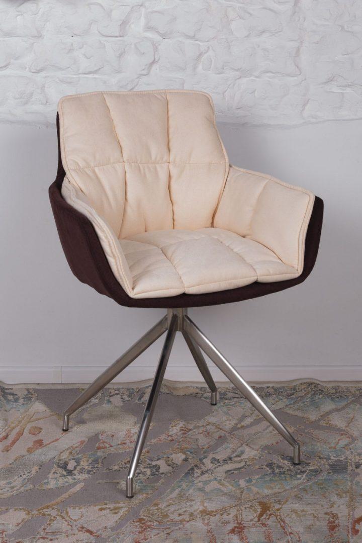 Кресло Nicolas Palma коричнево-бежевое поворотное
