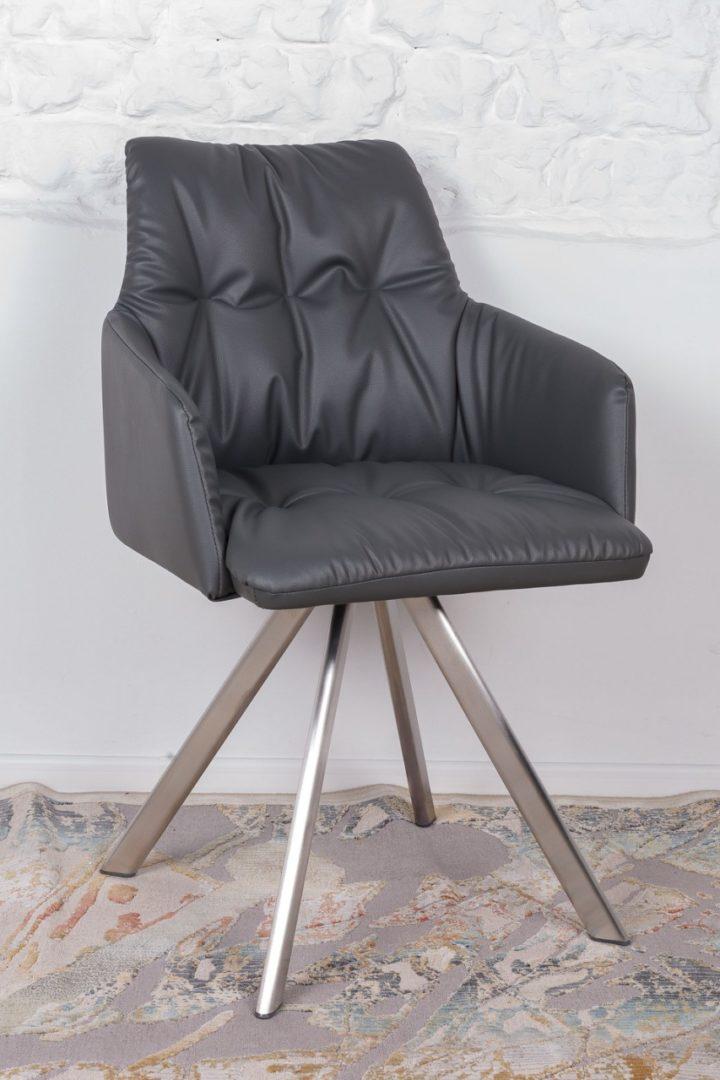 Кресло Nicolas Leon F369B/Z темно-серое поворотное