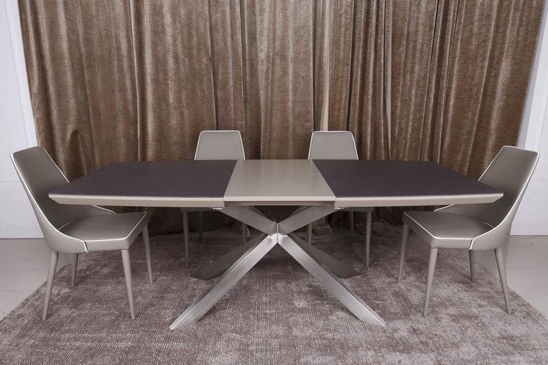 Стол Nicolas Portland HT2395 160 мокко/баклажан стеклокерамика