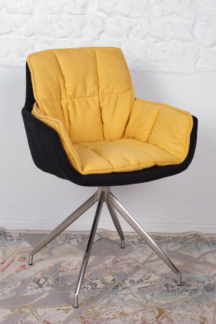 Кресло Nicolas Palma черно-желтое поворотное