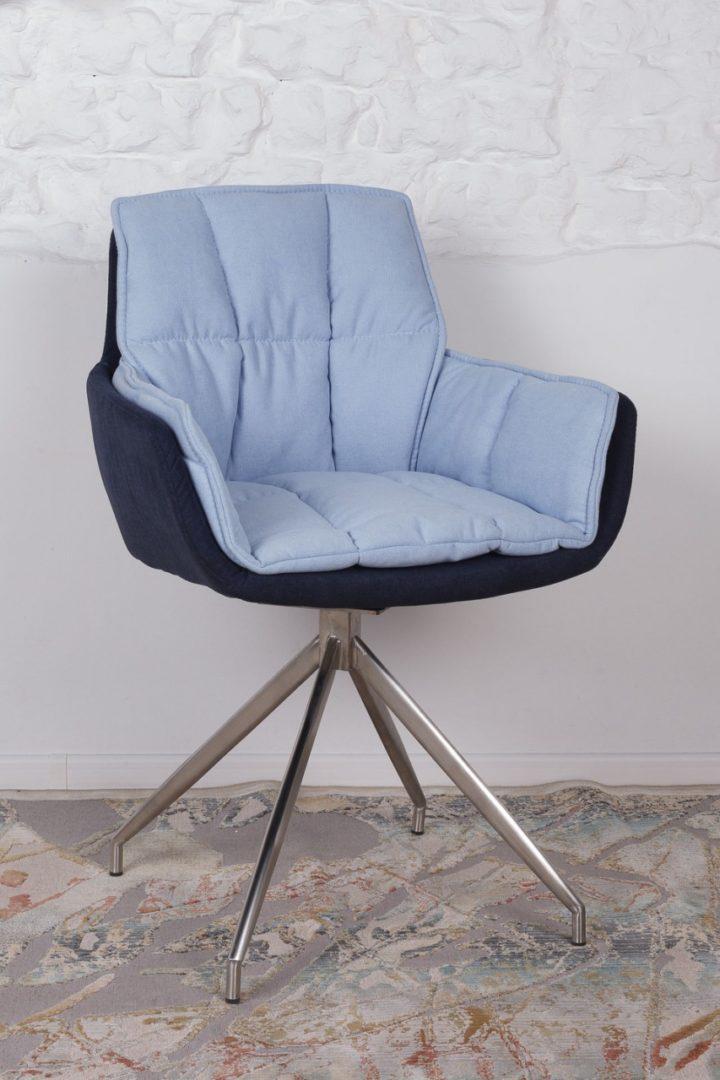 Кресло Nicolas Palma сине-голубое поворотное