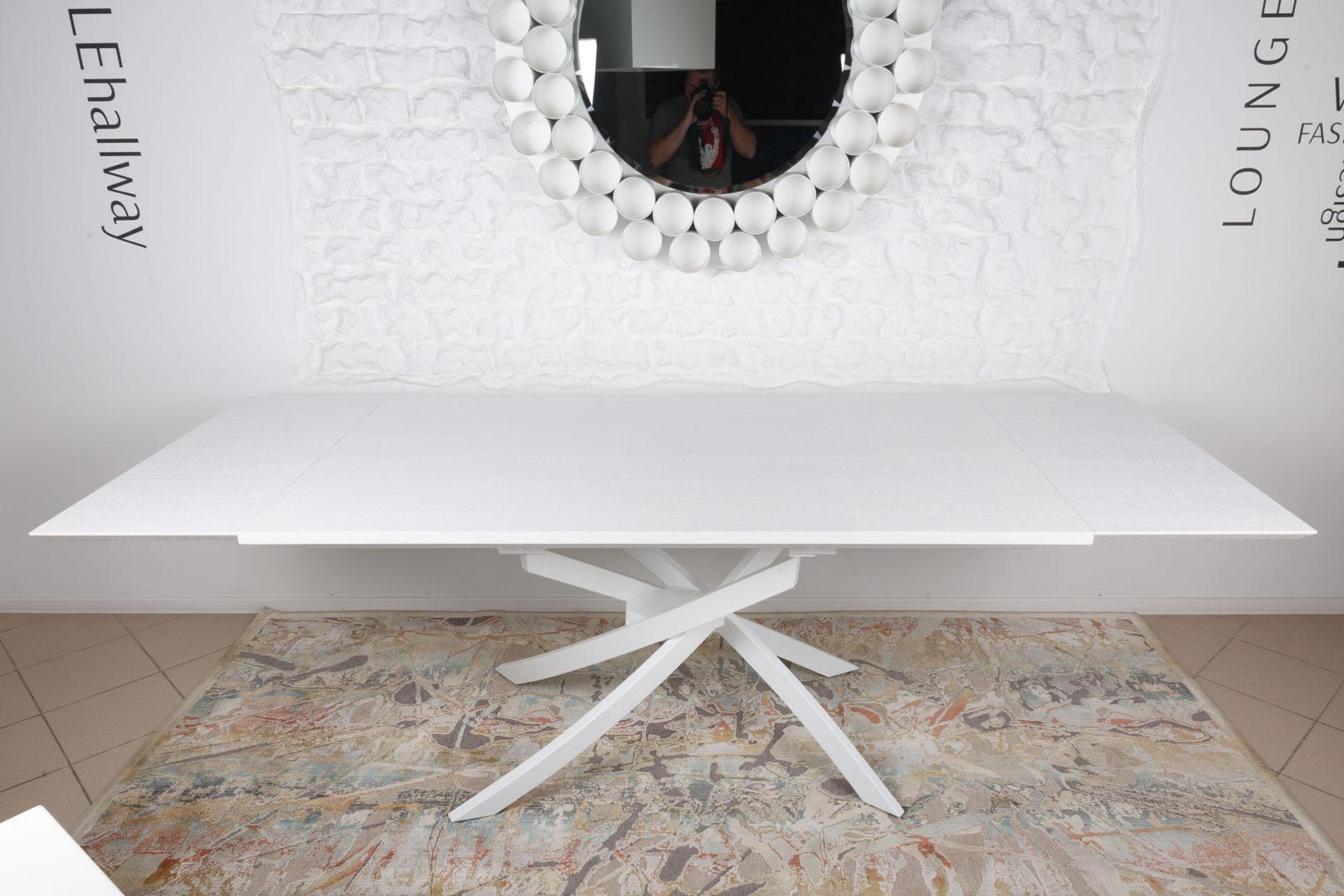 Стол Nicolas Lincoln 4626L (160/240*90) белый шпон