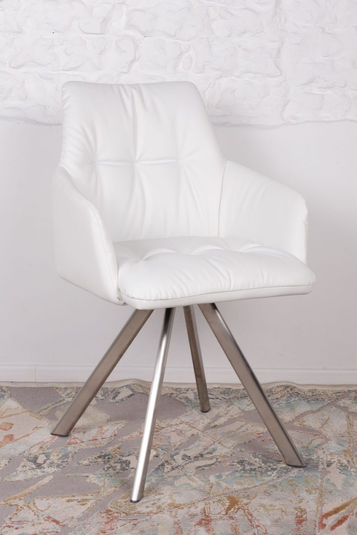 Кресло Nicolas Leon F369B/Z белое поворотное
