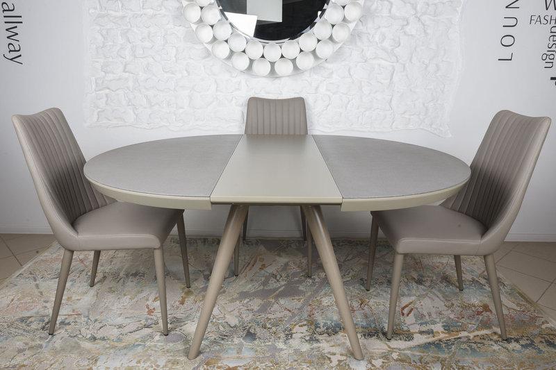 Стол Nicolas Austin HT2398 (120/160*120*76) керамика мокко