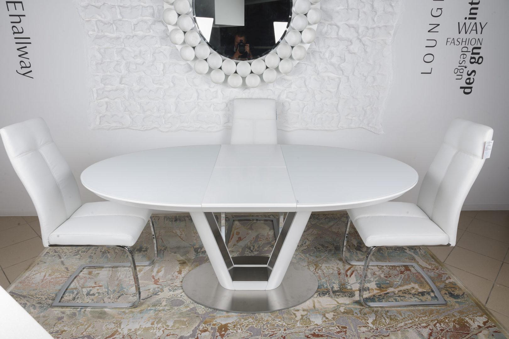 Стол Nicolas DENVER HT2400 (140/180*95) белый