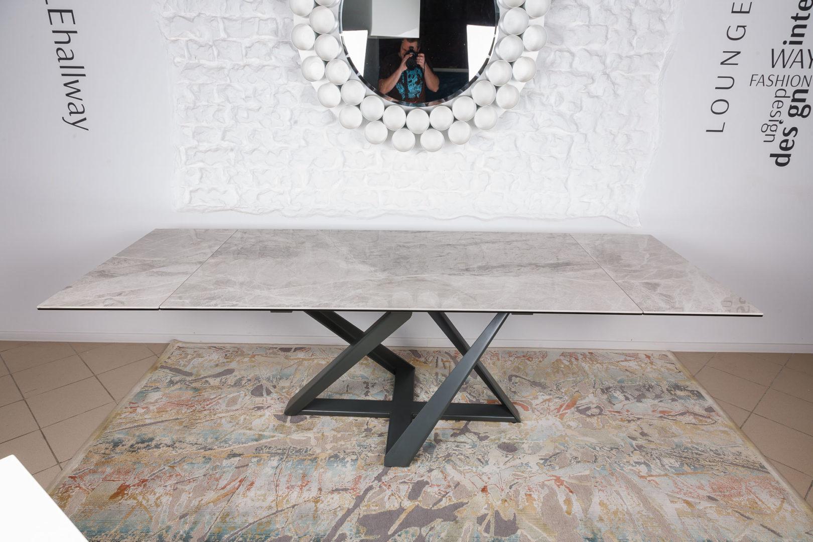 Стол Nicolas Fleetwood  NEW 4697L светло-серый глянец керамика