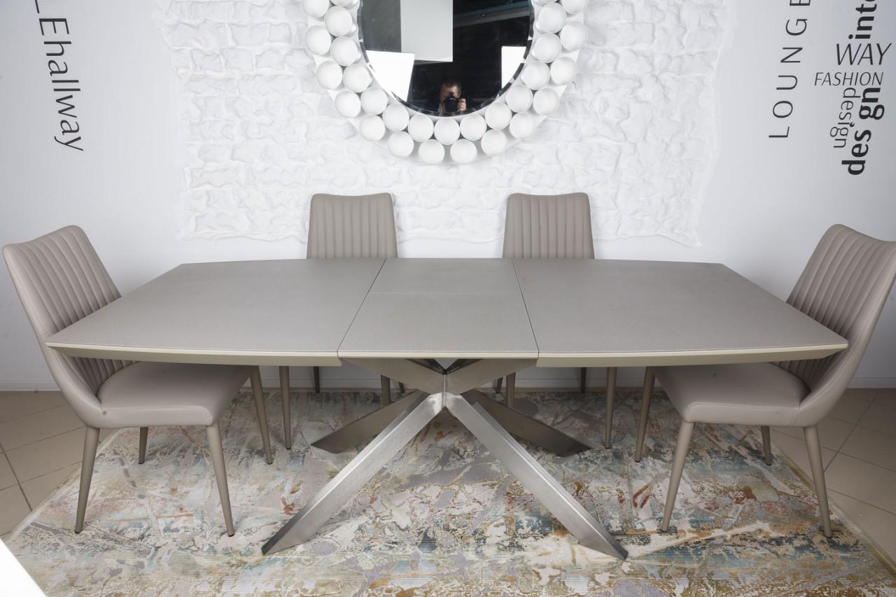 Стол  Nicolas Portland 160 мокко стеклокерамика