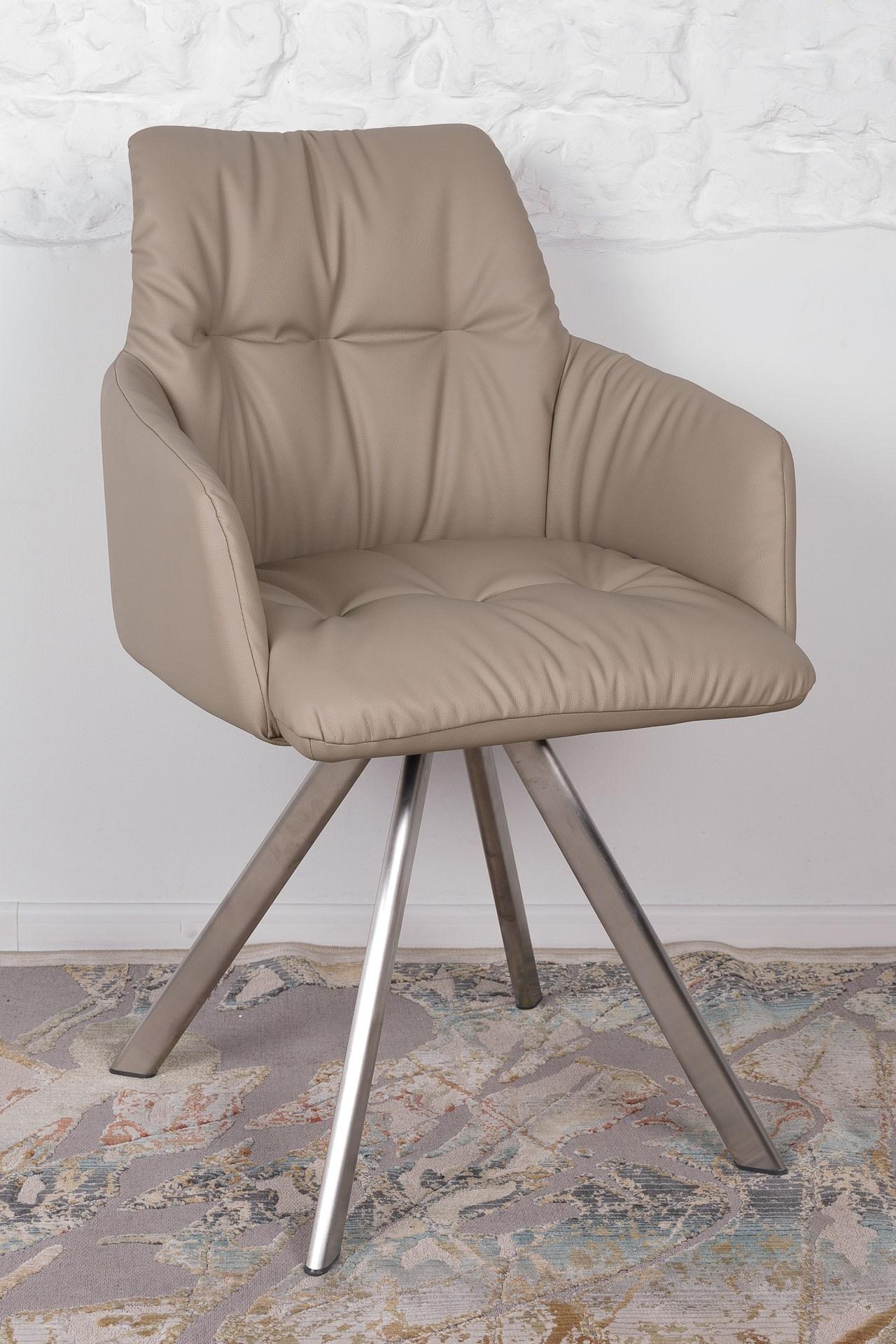 Кресло Nicolas Leon F369B/Z бежевое поворотное