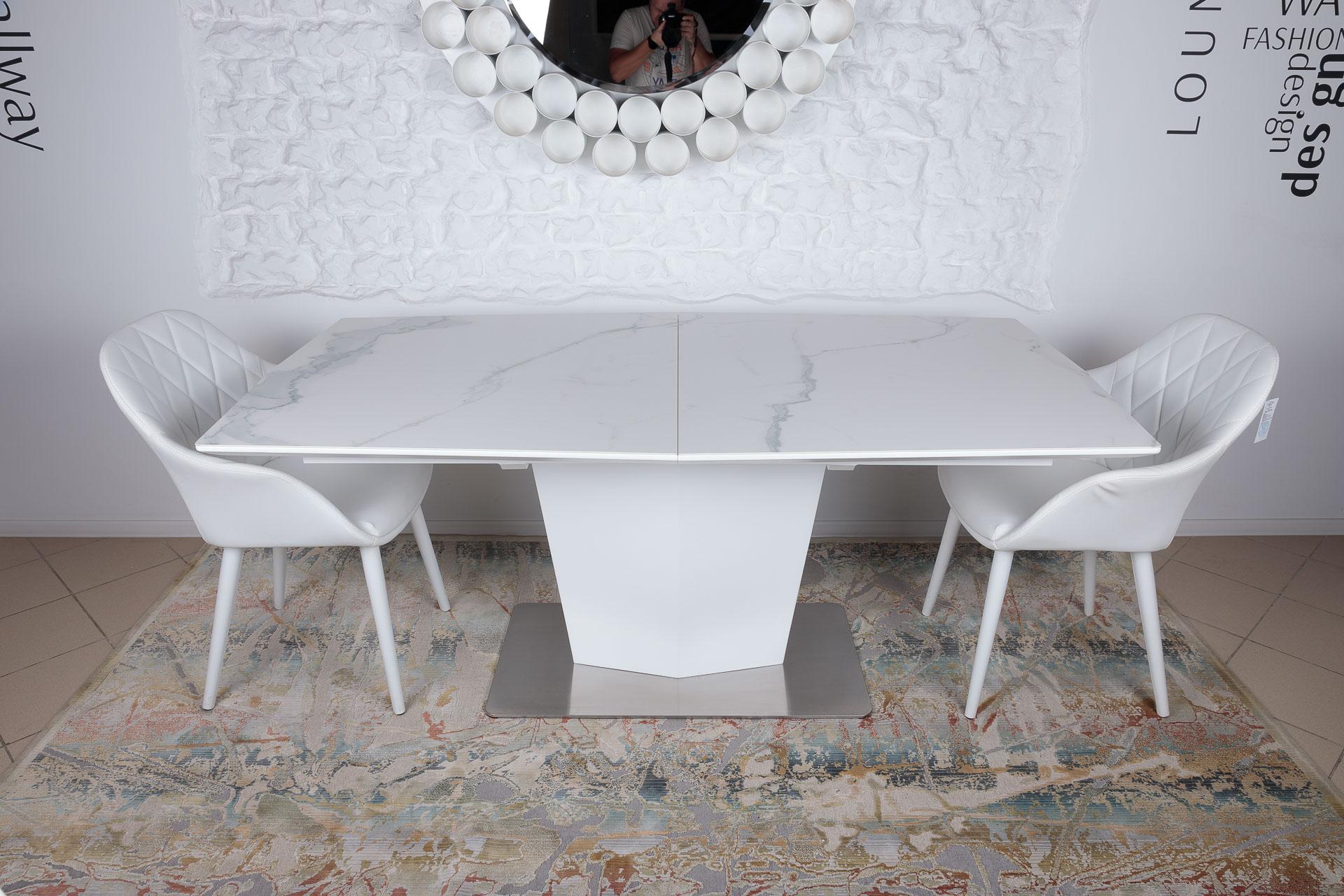 Стол Nicolas Michigan HT2368 (180/230*95) керамика белый