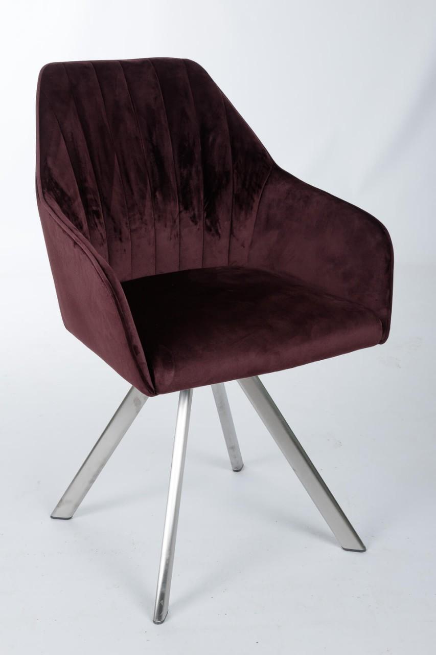 Кресло Nicolas Galera F395 поворотное (коричневое/гранат)