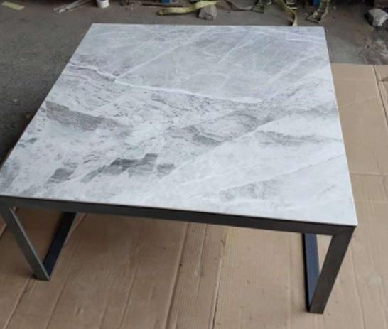 Стол журнальный Brighton 4761С керамика (светло-серый глянец)