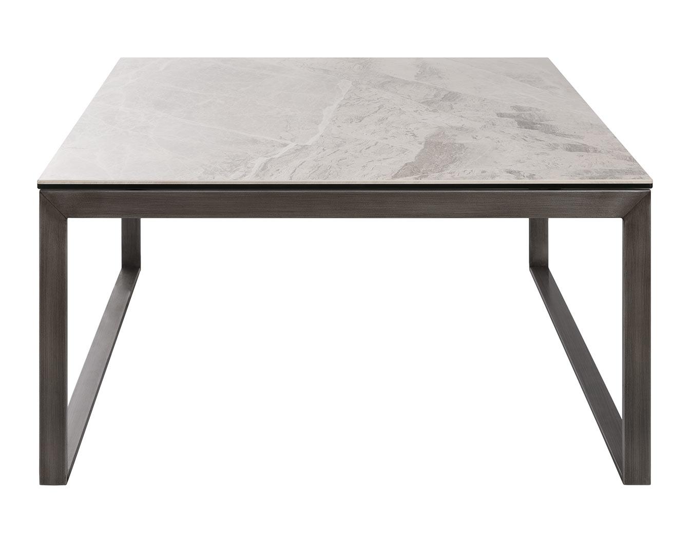 Стол журнальный Brighton S 4761 89х89 керамика светло-серый глянец