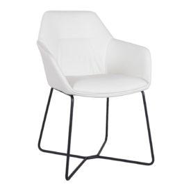 Кресло Nicolas Laredo F518SY белое/черные ноги