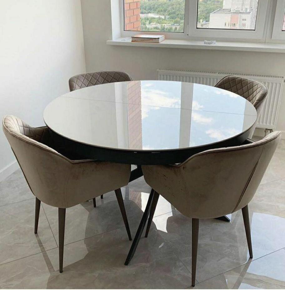 Стол Nicolas Cambridge 4627L 125 керамика белый глянец
