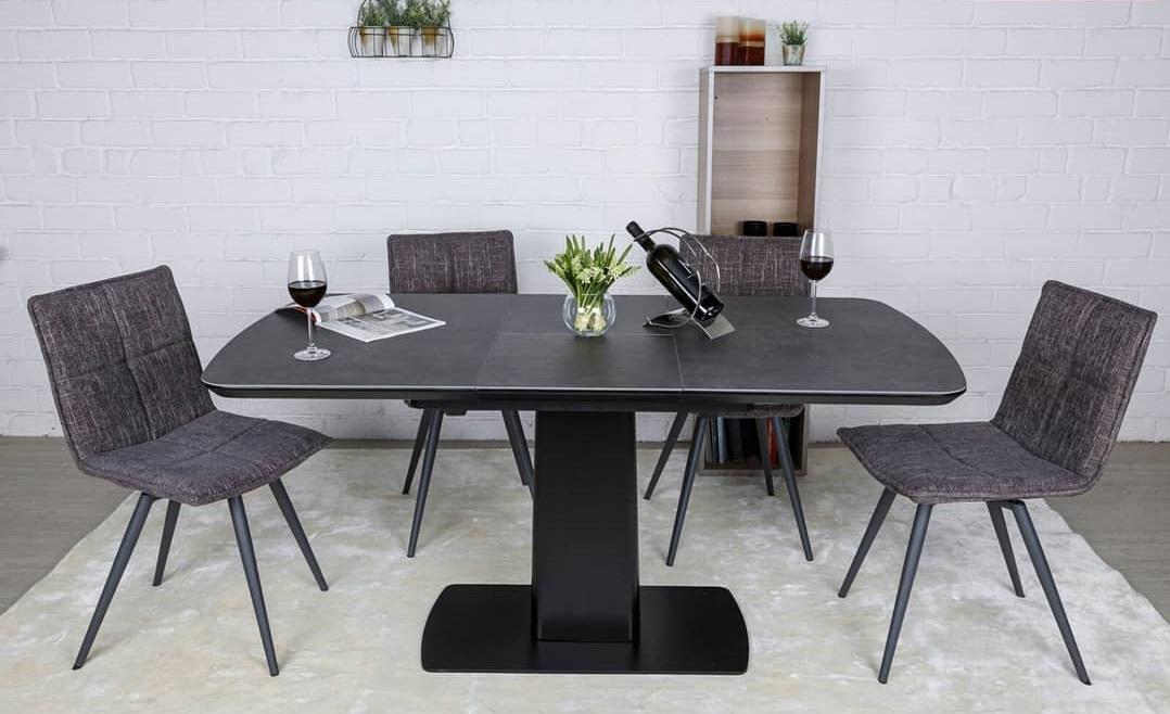 Стол Nicolas Maryland HT81002 (120/160*80) черный керамика