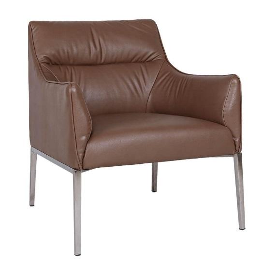 Лаунж-кресло Nicolas Merida F516 молочный шоколад