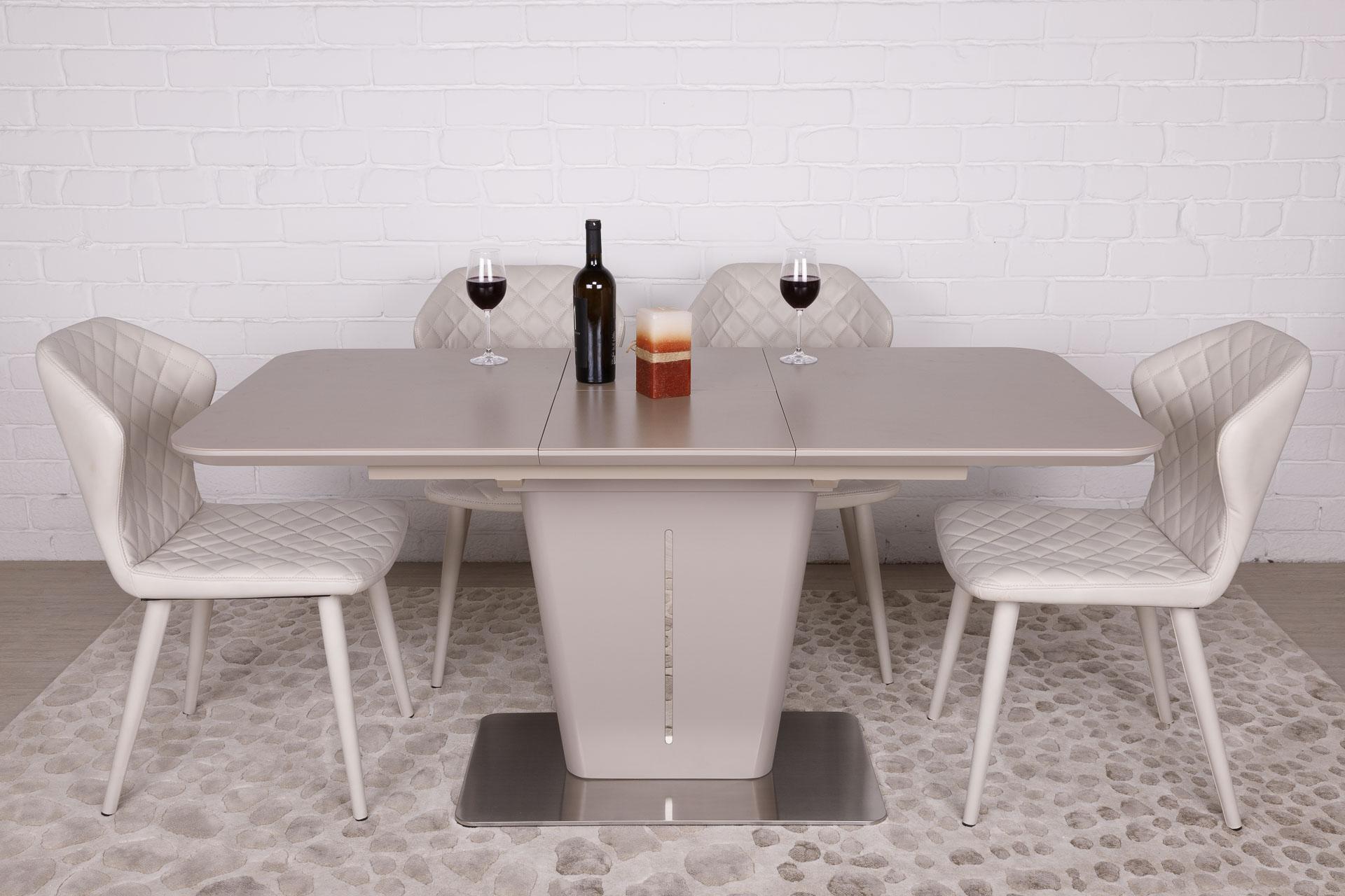 Стол Nicolas Alabama HT2695 (120/160*80) керамика мокко