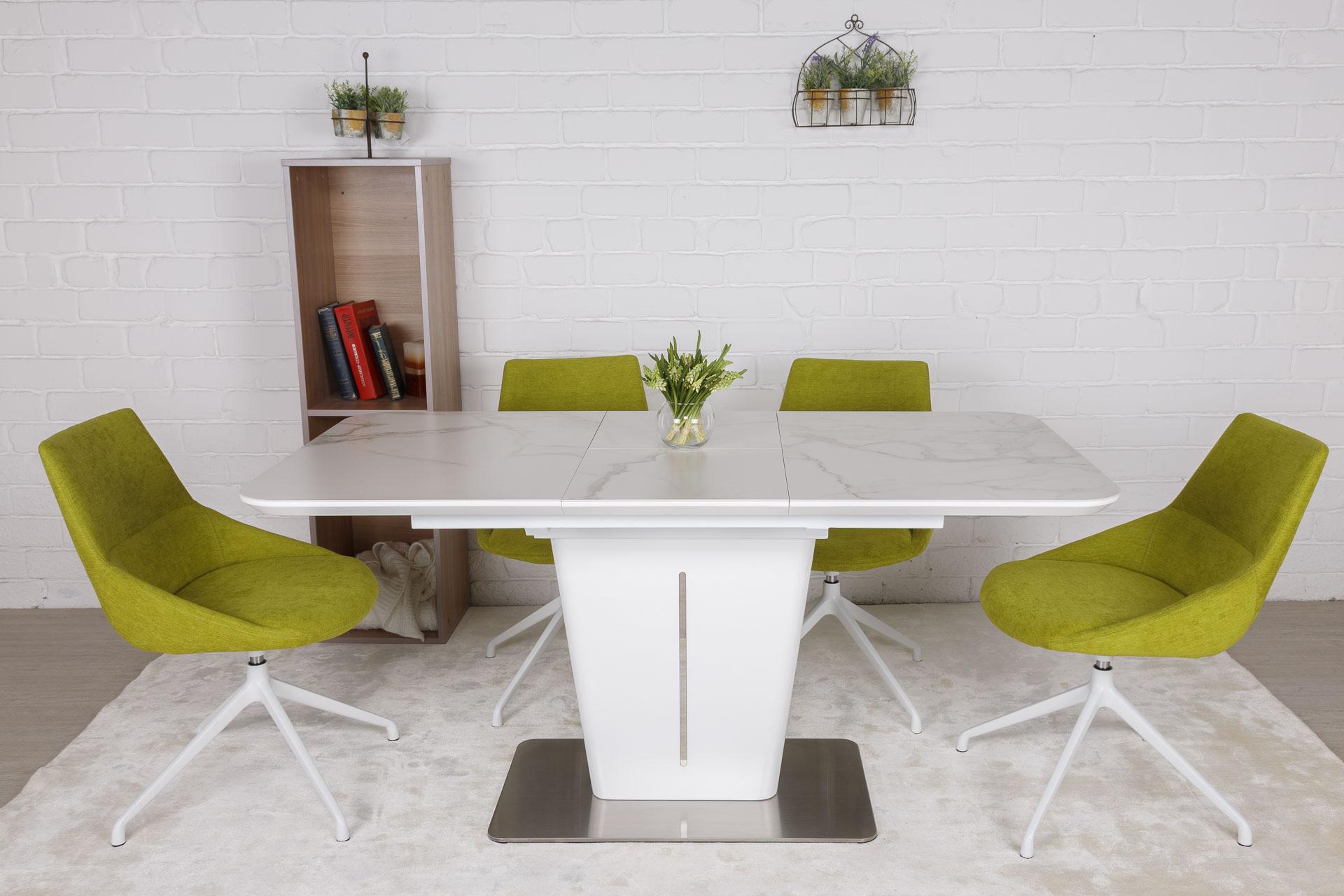 Стол Nicolas Alabama HT2695 (120/160*80) керамика белый