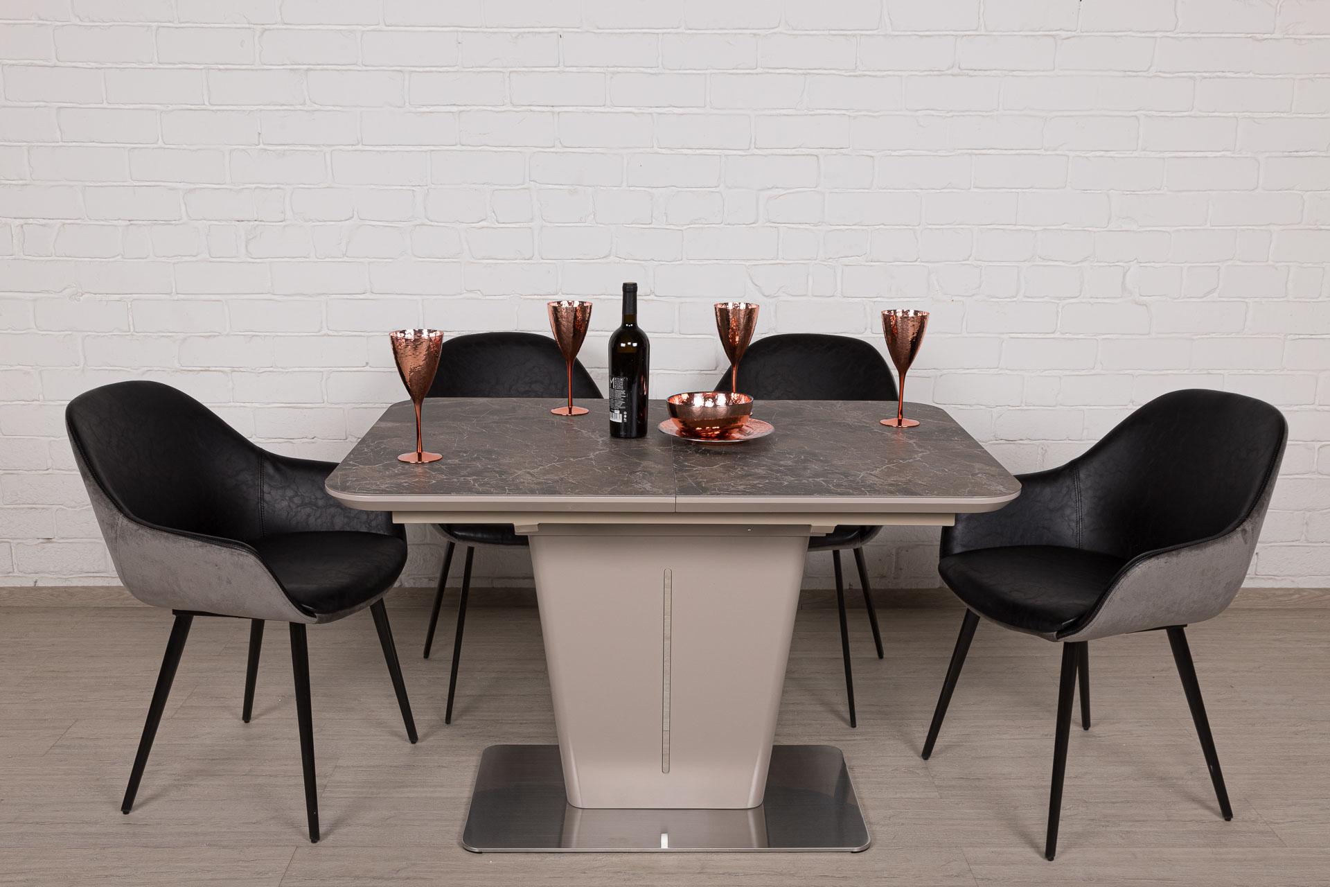 Стол Nicolas Alabama HT2695 (120/160*80) керамика коричневый