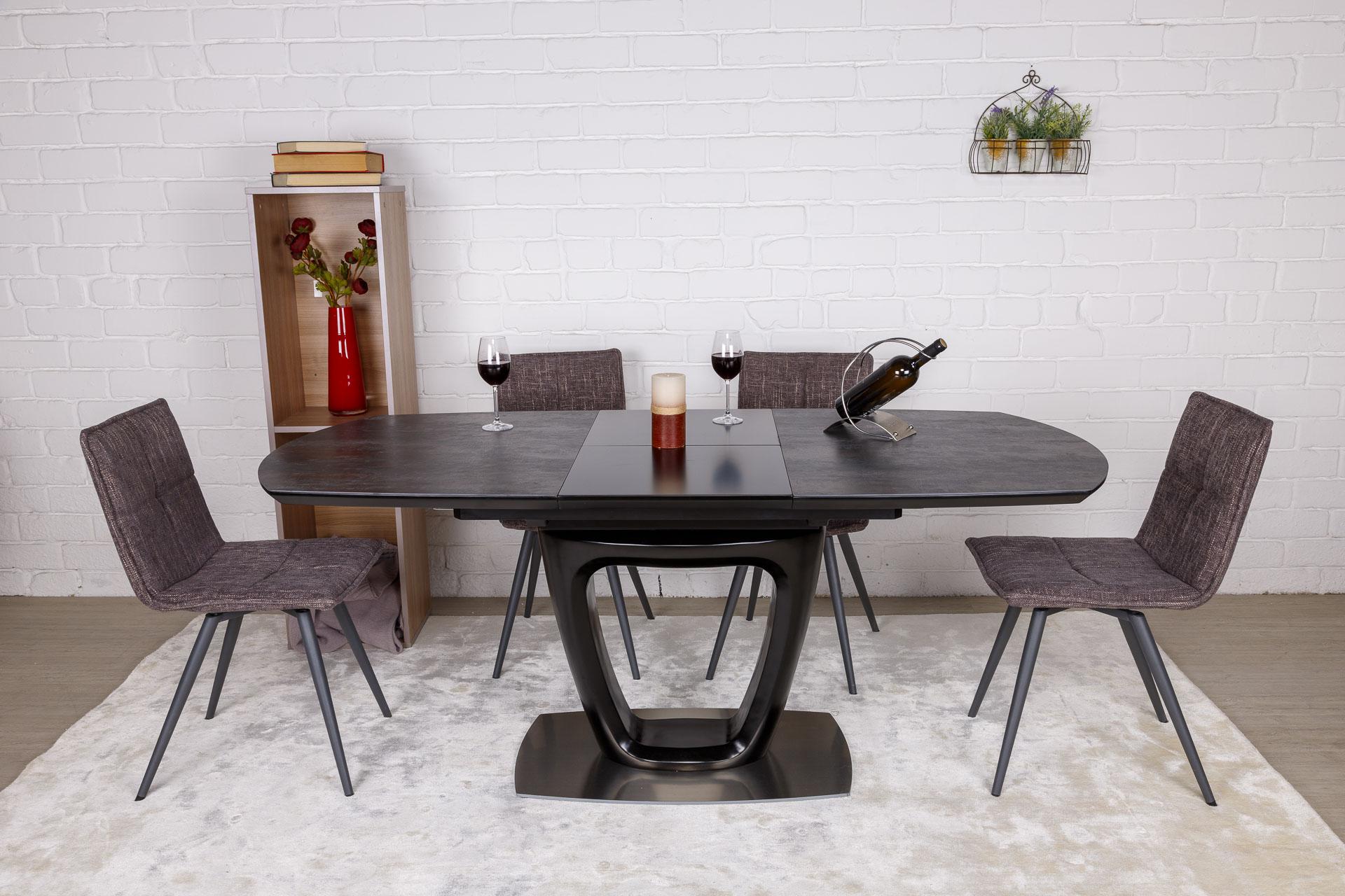 Стол Nicolas Ottawa HT2510 (140/180*85) коричневый графит керамика