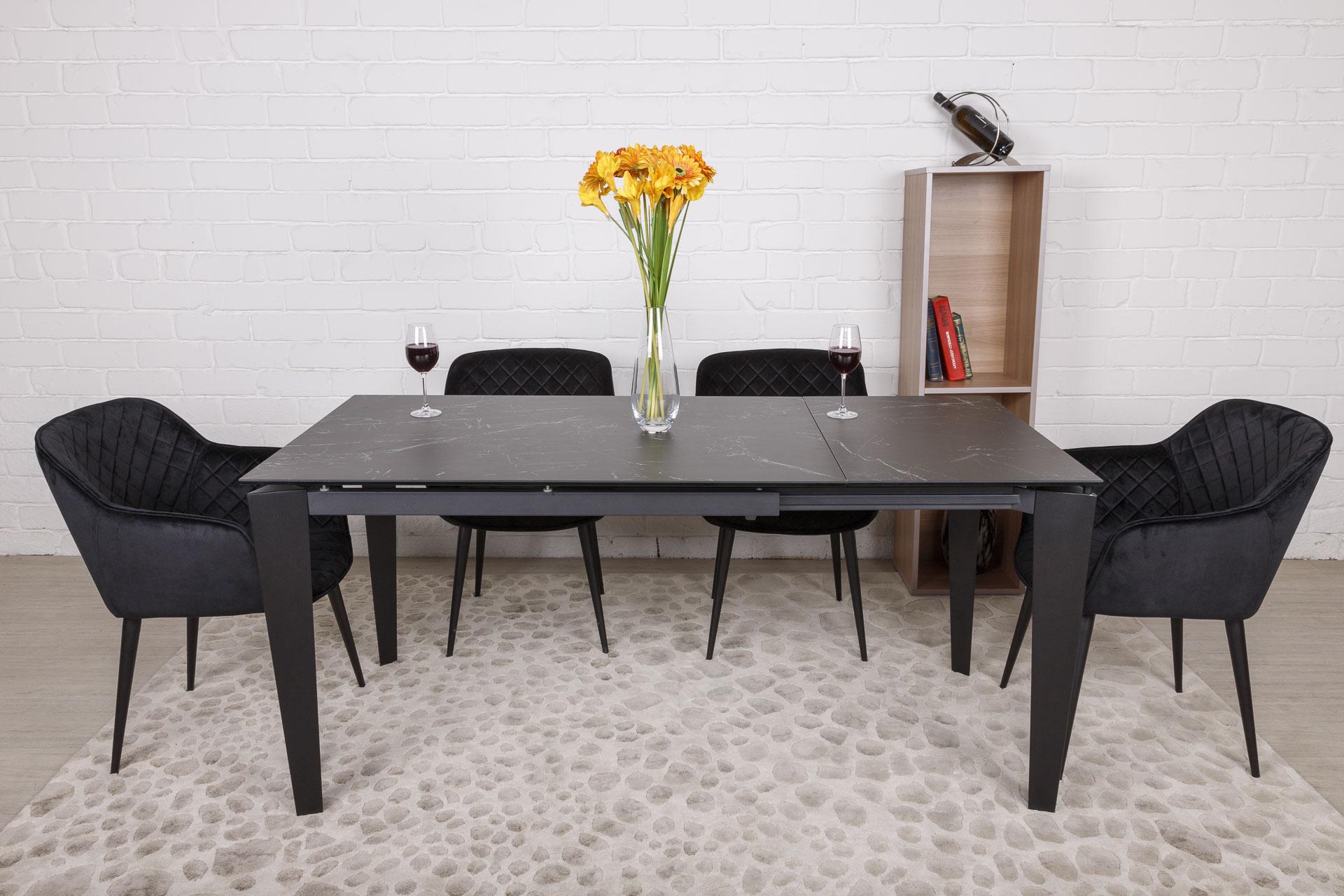 Стол Nicolas Alta DF511T 120 керамика черный