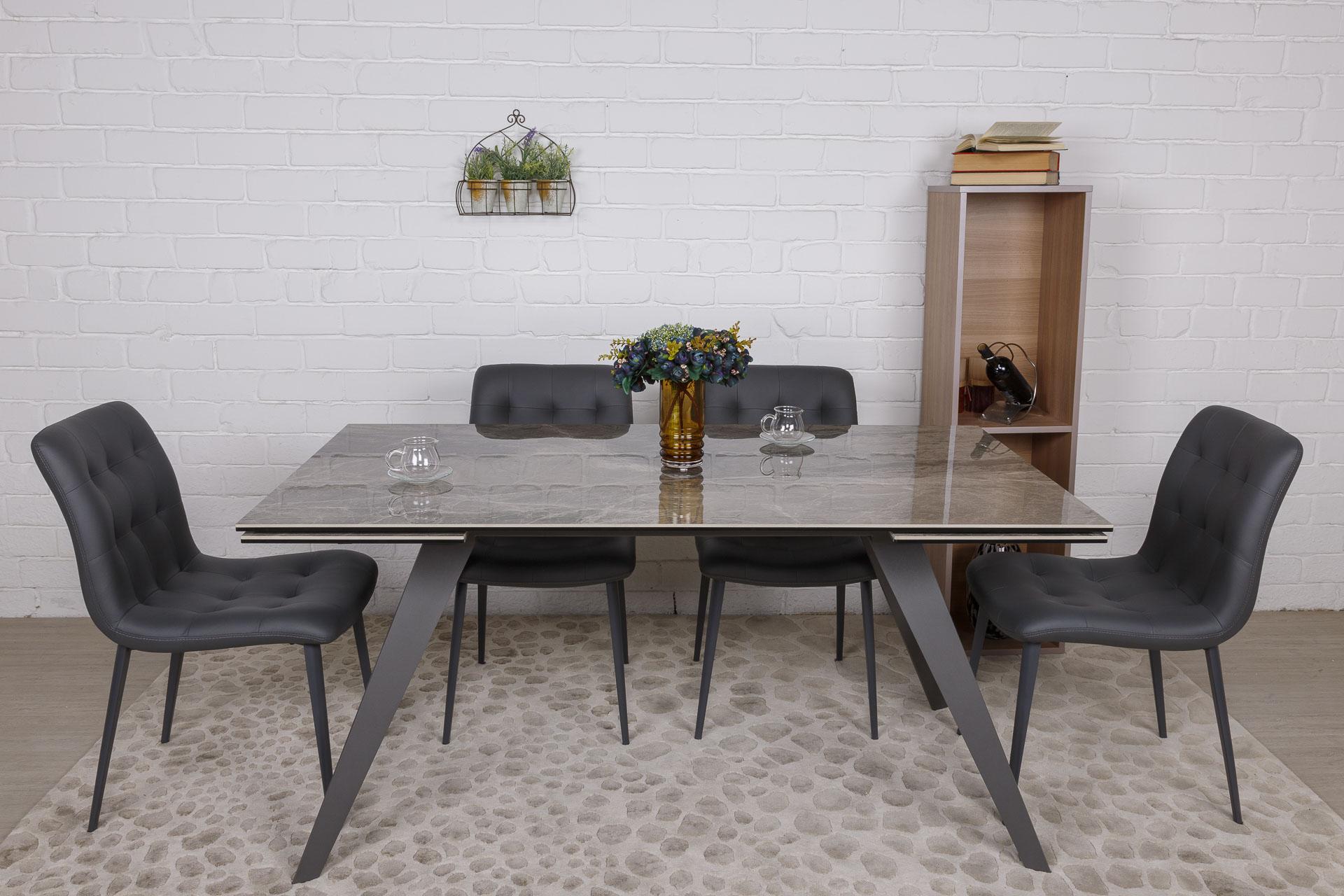 Стол Nicolas Moss 160 керамика серый глянец