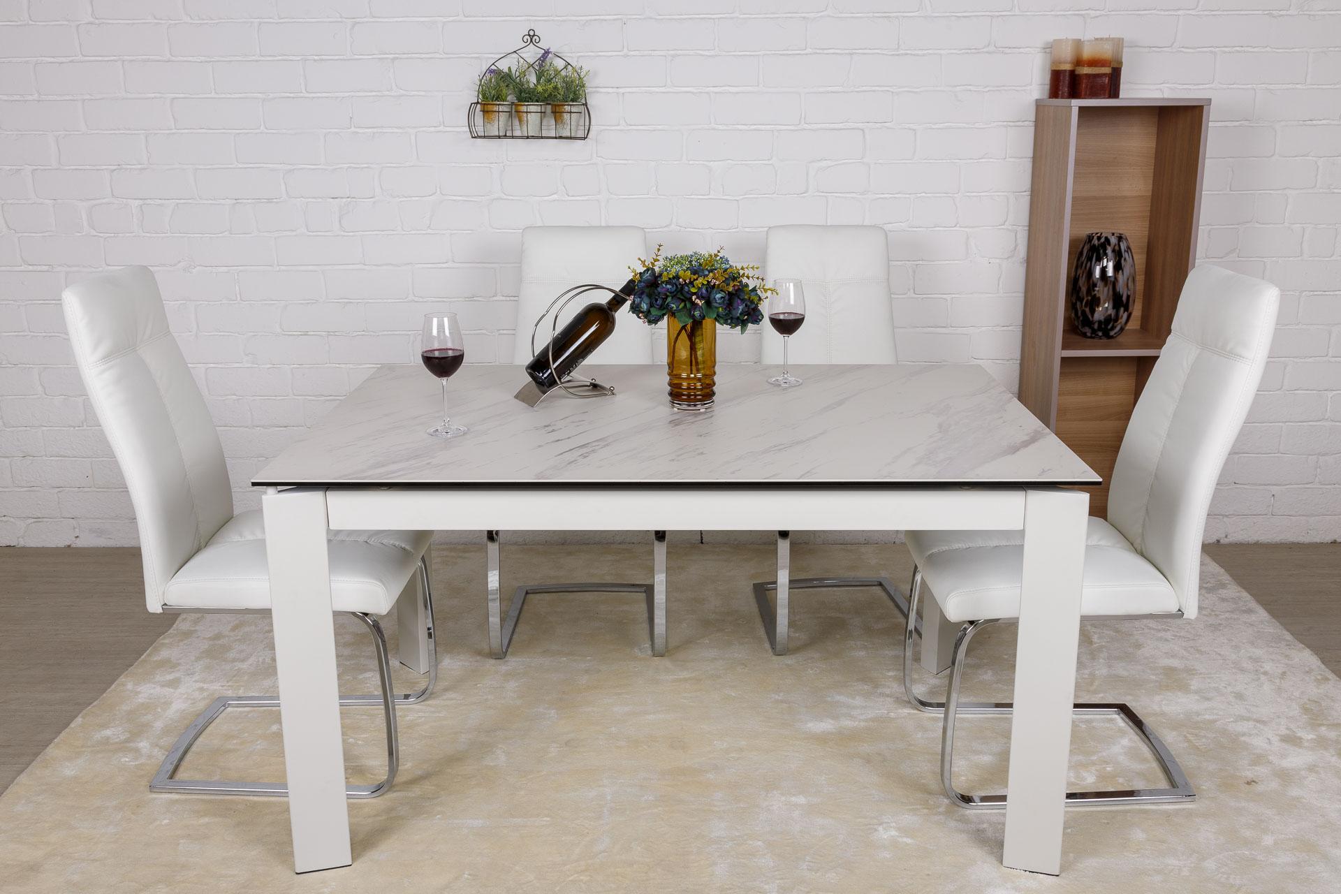Стол Nicolas Oslo 140 керамика белый