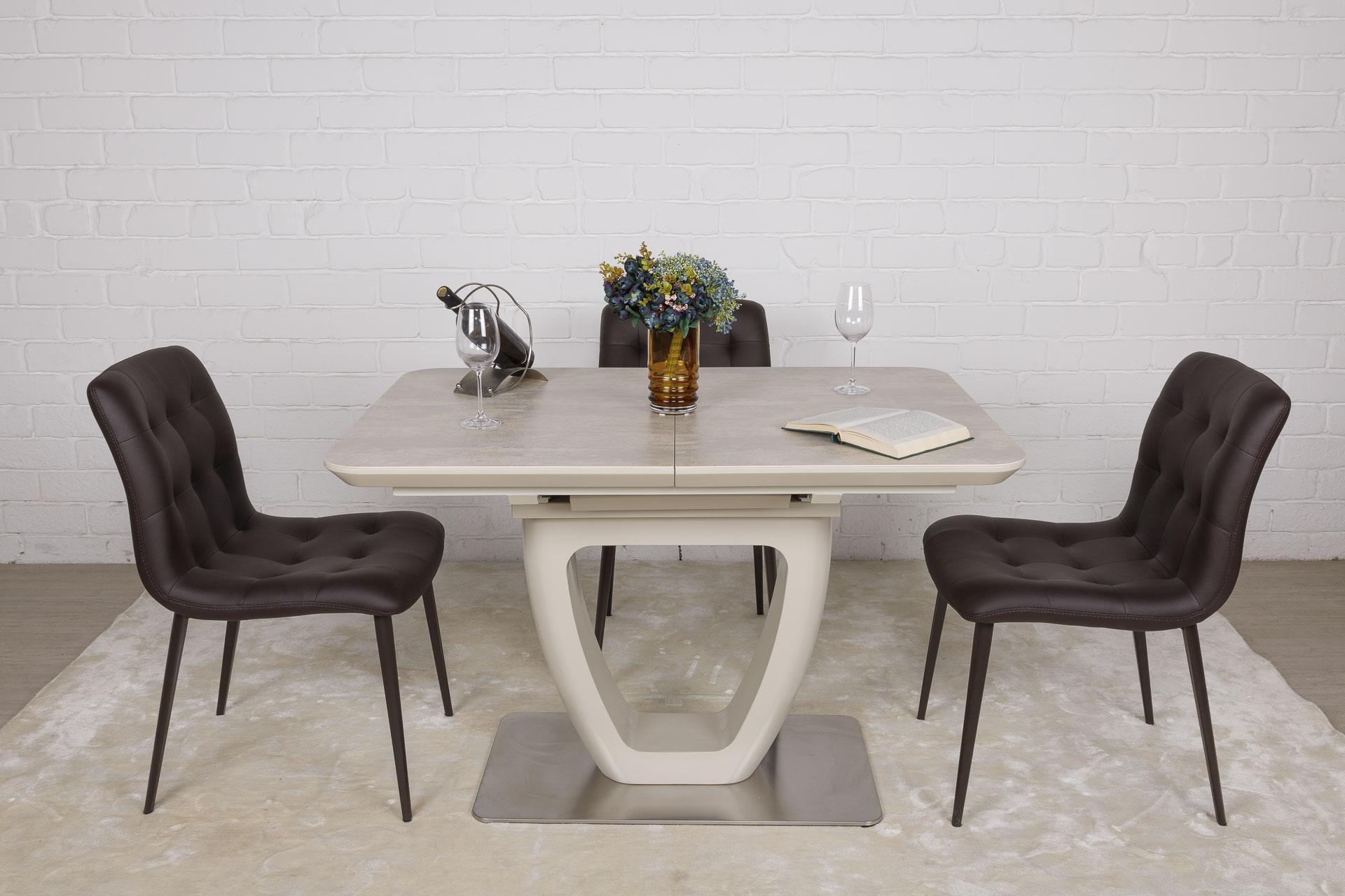 Стол Nicolas Toronto HT2527 (120/160*80) керамика бежевый