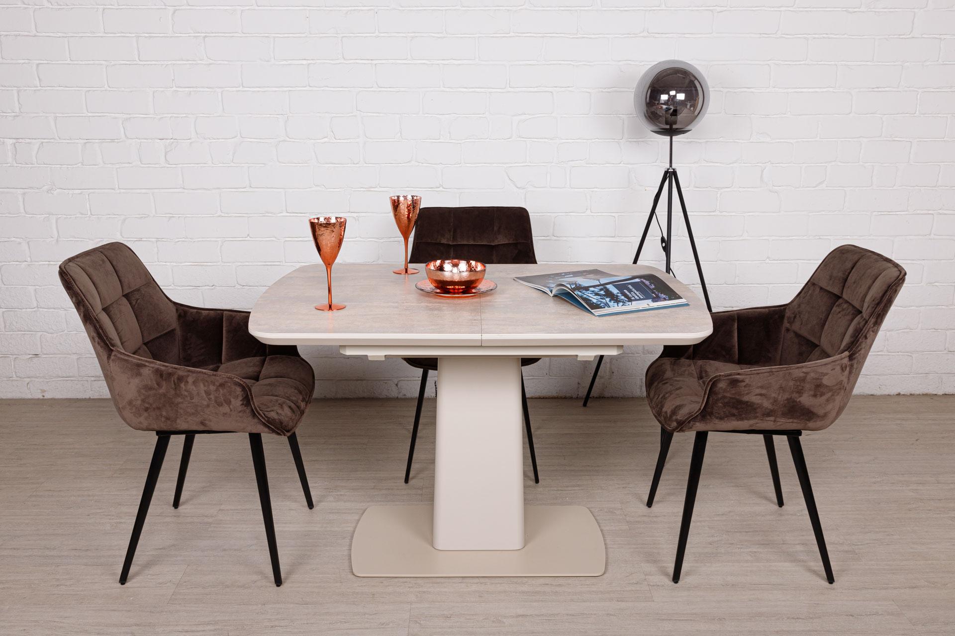 Стол Nicolas Maryland HT81002 (120/160*80) бежевая керамика