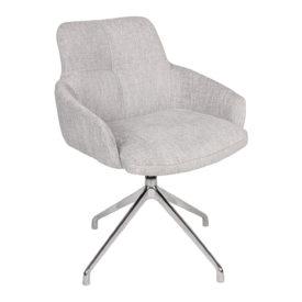 Кресло Nicolas Oliva F523A поворотное светло-серое