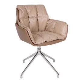 Кресло Nicolas Palma F373 мокко/молочный шоколад поворотное