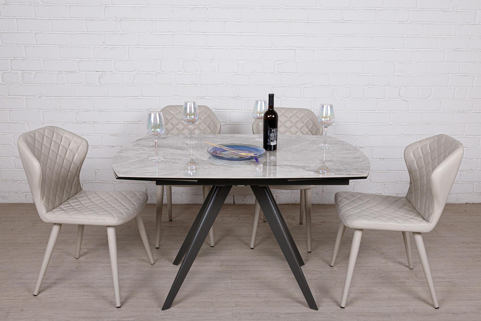 Стол Nicolas Coventry керамика светло-серый