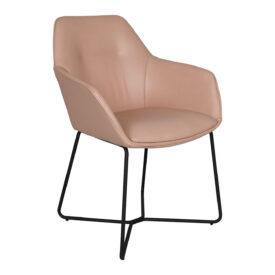 Кресло Nicolas Laredo F518SY пудровое/черные ноги