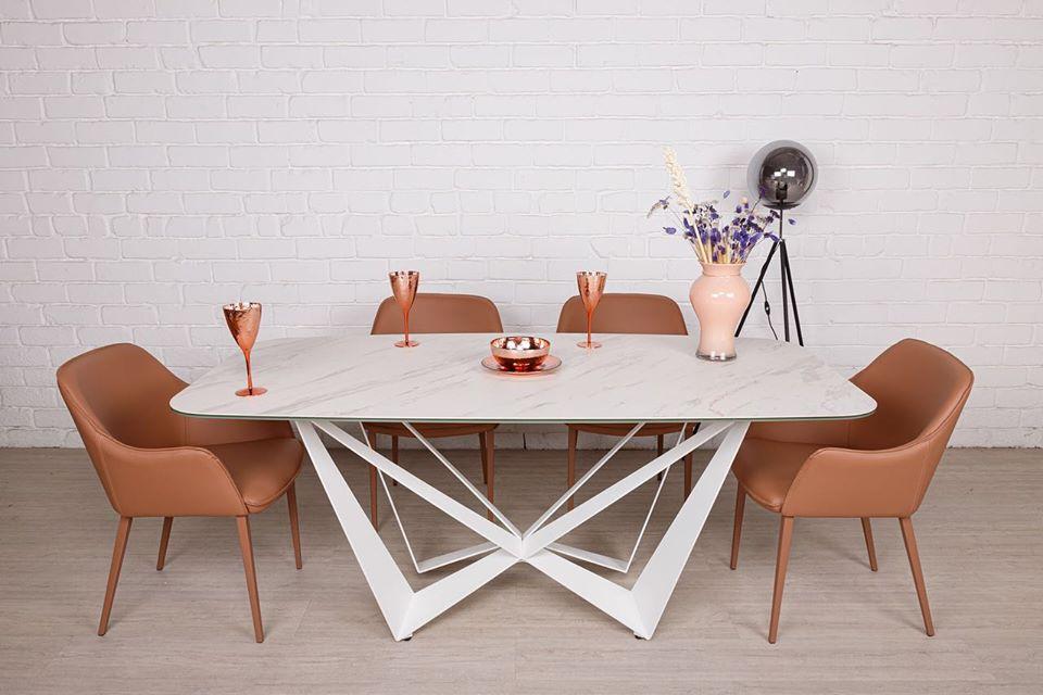 Стол Nicolas Wellington HT92015В (180*90см) керамика белый