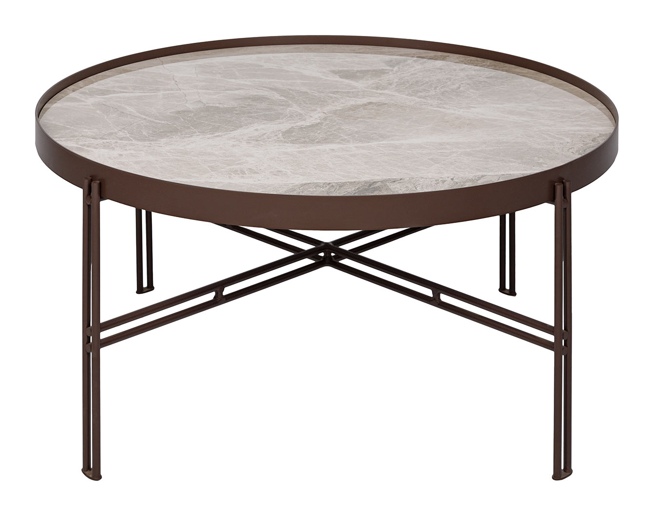 Стол журнальный Eton B 82 см керамика светло-серый