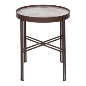 Стол журнальный Eton S 42 см керамика светло-серый