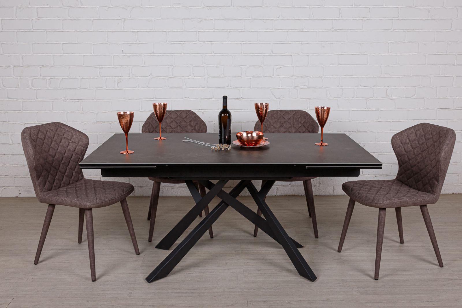 Стол Nicolas Oshawa 160 HT92034 керамика черно-коричневый